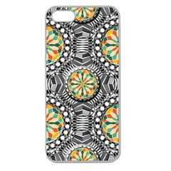 Beveled Geometric Pattern Apple Seamless Iphone 5 Case (clear) by linceazul