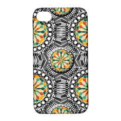Beveled Geometric Pattern Apple Iphone 4/4s Hardshell Case With Stand by linceazul