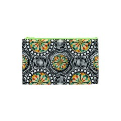 Beveled Geometric Pattern Cosmetic Bag (xs) by linceazul