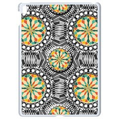 Beveled Geometric Pattern Apple Ipad Pro 9 7   White Seamless Case by linceazul