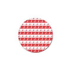 Knitted Red White Reindeers Golf Ball Marker (10 Pack) by patternstudio