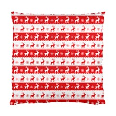 Knitted Red White Reindeers Standard Cushion Case (two Sides) by patternstudio