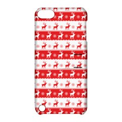 Knitted Red White Reindeers Apple Ipod Touch 5 Hardshell Case With Stand by patternstudio
