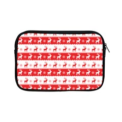 Knitted Red White Reindeers Apple Ipad Mini Zipper Cases by patternstudio