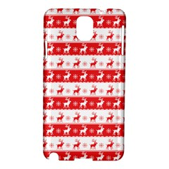 Knitted Red White Reindeers Samsung Galaxy Note 3 N9005 Hardshell Case by patternstudio