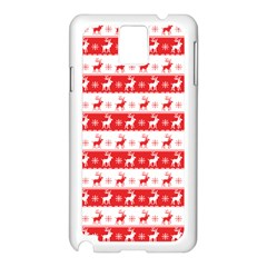 Knitted Red White Reindeers Samsung Galaxy Note 3 N9005 Case (white) by patternstudio