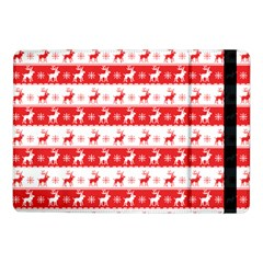 Knitted Red White Reindeers Samsung Galaxy Tab Pro 10 1  Flip Case by patternstudio