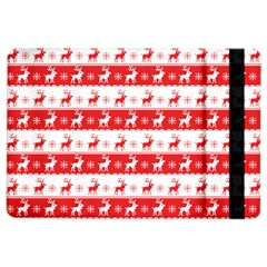 Knitted Red White Reindeers Ipad Air 2 Flip by patternstudio
