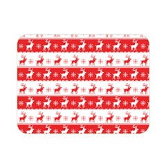 Knitted Red White Reindeers Double Sided Flano Blanket (mini)  by patternstudio