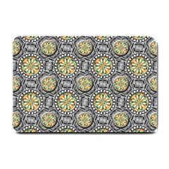Beveled Geometric Pattern Small Doormat  by linceazul
