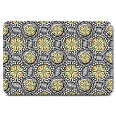 Beveled Geometric Pattern Large Doormat  by linceazul