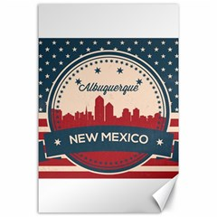 Retro  Albuquerque New Mexico Skyline Canvas 24  X 36  by allthingseveryday