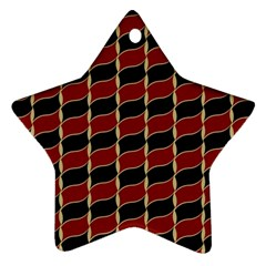 Leaves Red Black Ornament (star) by Cveti