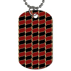 Leaves Red Black Dog Tag (one Side) by Cveti