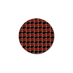 Leaves Red Black Golf Ball Marker (4 Pack) by Cveti