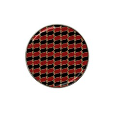 Leaves Red Black Hat Clip Ball Marker by Cveti