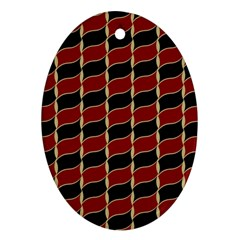 Leaves Red Black Oval Ornament (two Sides) by Cveti