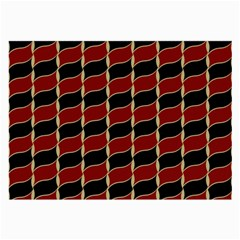 Leaves Red Black Large Glasses Cloth (2 Side) by Cveti