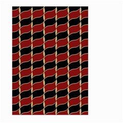 Leaves Red Black Large Garden Flag (two Sides) by Cveti