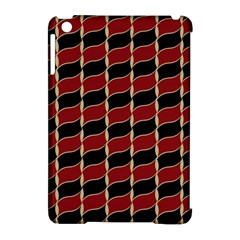 Leaves Red Black Apple Ipad Mini Hardshell Case (compatible With Smart Cover) by Cveti