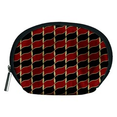 Leaves Red Black Accessory Pouches (medium)  by Cveti