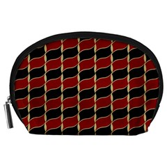 Leaves Red Black Accessory Pouches (large)  by Cveti