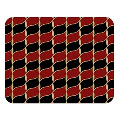 Leaves Red Black Double Sided Flano Blanket (large)  by Cveti