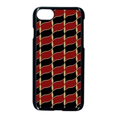Leaves Red Black Apple Iphone 7 Seamless Case (black) by Cveti
