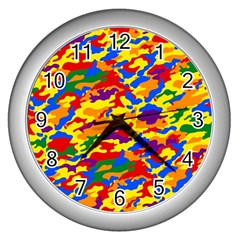 Homouflage Gay Stealth Camouflage Wall Clocks (silver)  by PodArtist