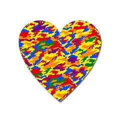 Homouflage Gay Stealth Camouflage Heart Magnet by PodArtist