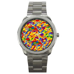 Homouflage Gay Stealth Camouflage Sport Metal Watch by PodArtist