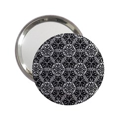 Crystals Pattern Black White 2 25  Handbag Mirrors by Cveti