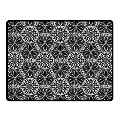 Crystals Pattern Black White Fleece Blanket (small) by Cveti