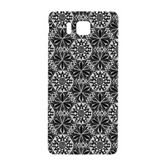 Crystals Pattern Black White Samsung Galaxy Alpha Hardshell Back Case by Cveti