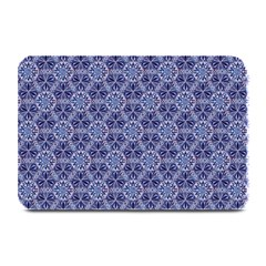 Crystals Pattern Blue Plate Mats