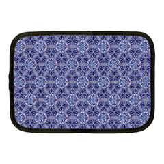 Crystals Pattern Blue Netbook Case (medium)  by Cveti
