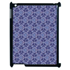 Crystals Pattern Blue Apple Ipad 2 Case (black) by Cveti