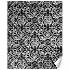Kaleidoscope Black White Pattern Canvas 16  X 20   by Cveti
