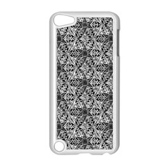 Kaleidoscope Black White Pattern Apple Ipod Touch 5 Case (white) by Cveti