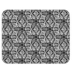 Kaleidoscope Black White Pattern Double Sided Flano Blanket (medium)  by Cveti