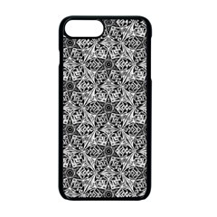Kaleidoscope Black White Pattern Apple Iphone 7 Plus Seamless Case (black) by Cveti