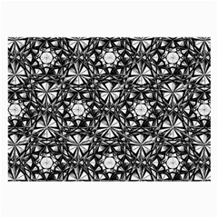 Star Crystal Black White Pattern Large Glasses Cloth by Cveti