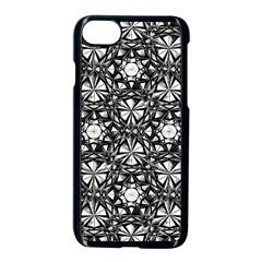 Star Crystal Black White Pattern Apple Iphone 7 Seamless Case (black)