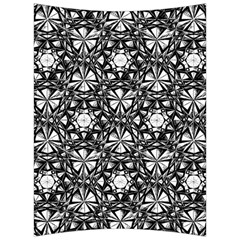 Star Crystal Black White Pattern Back Support Cushion