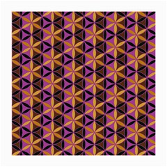 Flower Of Life Purple Gold Medium Glasses Cloth (2 Side) by Cveti