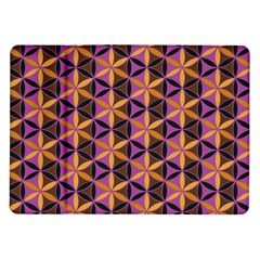 Flower Of Life Purple Gold Samsung Galaxy Tab 10 1  P7500 Flip Case by Cveti