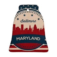 Retro Baltimore Maryland Skyline Ornament (bell) by allthingseveryday