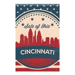 Retro Cincinnati Ohio Skyline Shower Curtain 48  X 72  (small)  by allthingseveryday