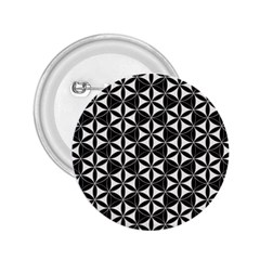 Flower Of Life Pattern Black White 2 25  Buttons by Cveti