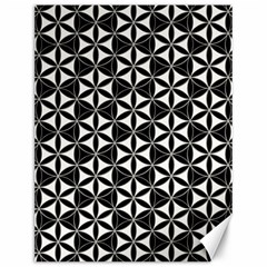 Flower Of Life Pattern Black White Canvas 12  X 16   by Cveti